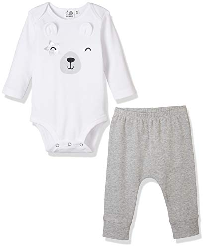 Polar Bear Outfit (Silly Apples Baby Toddler Boys or Girls Fall Outfit 2-Piece Bodysuit Polar Bear Onesies and Pant Outfit Set)