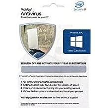 Mcafee 2018 Antivirus 1 Device 1Year,