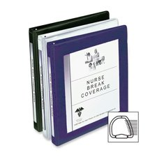 12 Avery Framed Presentation Nonlocking Slant Ring View 3-Ring Binders, 1/2 Cap, Navy Blue, EA - AVE68051
