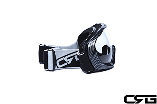 CRG Motocross ATV Dirt Bike Off Road Racing Goggles Adult T815-37 (Clear) by CRG Sports (Image #2)
