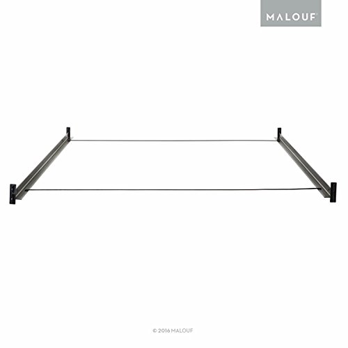 MALOUF STRUCTURES Hook-In Metal Bed Rail System with Cross Wires - Twin/Full