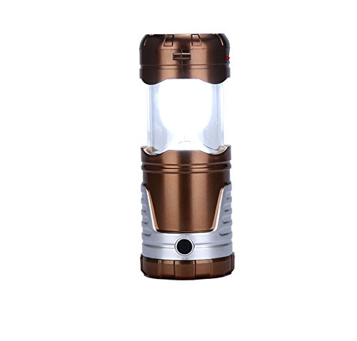 Sanberd Outdoor surviva LED Camping Lights with Hanging Lights Flashlight Mobile Phone Charging Solar Power 4-in-1 Function For Fishing Emergency Hurricanes Hiking Hunting Storm (Champagne)