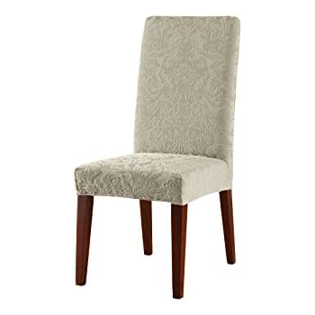 Amazon.com: Sure Fit Stretch Pinstripe - Shorty Dining Room Chair ...