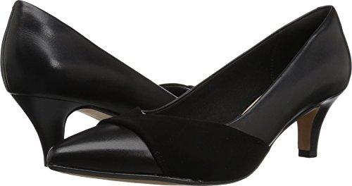 CLARKS Women's Linvale Vena Pump, Black Leather/Nubuck Combi, 70 M -