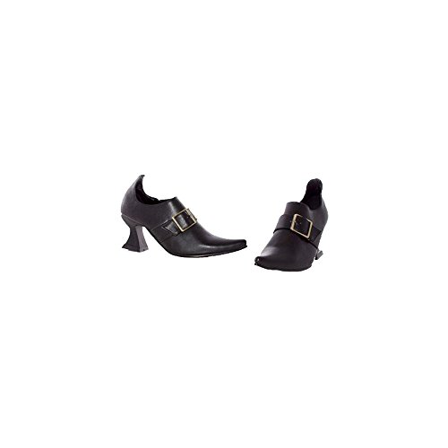 Ellie Shoes E251-HAZEL-XS X-Small Witch Child Shoe - Black (Girls Black Hazel Shoes)
