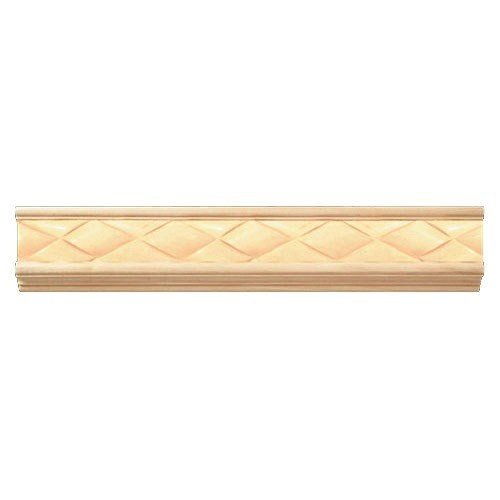 Weaved Frieze Carved Wood Moldings, Cherry -