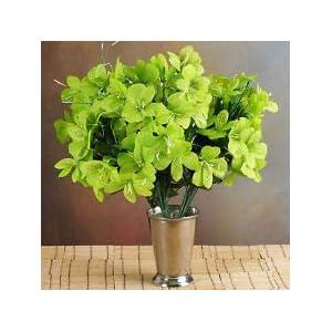 6 Lime Green Bushes Silk Mini PRIMROSES Wedding Flowers Bouquets Decorations 106