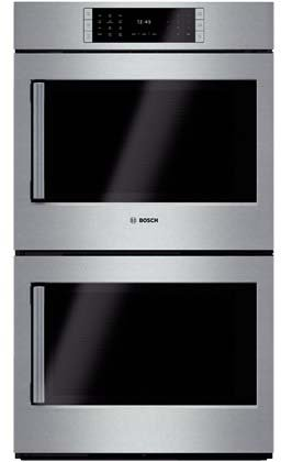 "Bosch HBLP651RUC: 30"" Double Wall Oven Right Swing Door Benchmark Series - Stainless Steel"