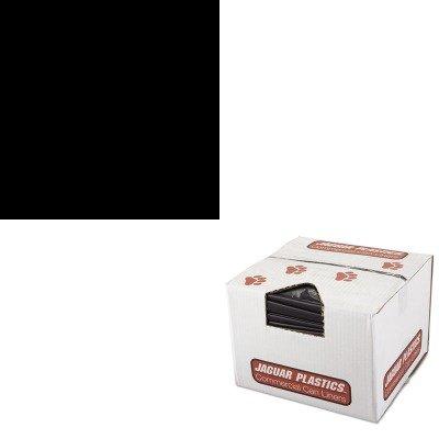 KITCOX00031EAJAGR3858HH - Value Kit - Jaguar Plastics R3858HH Black Low Density 2.0 Mil Repro Can Liners, 55-60 Gallons (JAGR3858HH) and Clorox Toilet Bowl Cleaner with Bleach (COX00031EA) by Jaguar Plastics