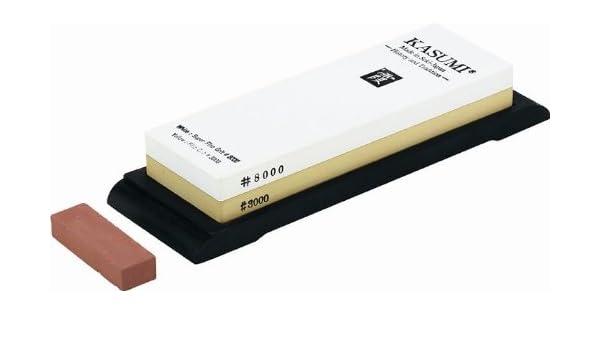 Afilador de cuchillos Kasumi combinación de piedra de afilar ...