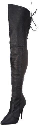 Pleaser EU-LEGEND-8899 Boots Womens Black Schwarz (Blk leather (p)) 7 (40 EU) by Pleaser USA Inc. ()