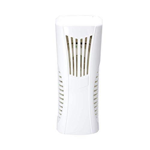Pure White Fan Type Essential Oil Fragrance Machine Wall-Mounted Tabletop Dual Purpose Automatic Air Freshener with Light Sensor and Timer ()