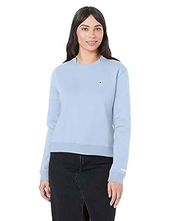 Calvin Klein Jeans Women's Boxy Crew Neck Sweater, Skyway, M