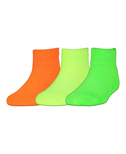 Under Armour Armour Grip Lowcut Socks (3Pack), Toddler(5 - 6.5), Hyper Green