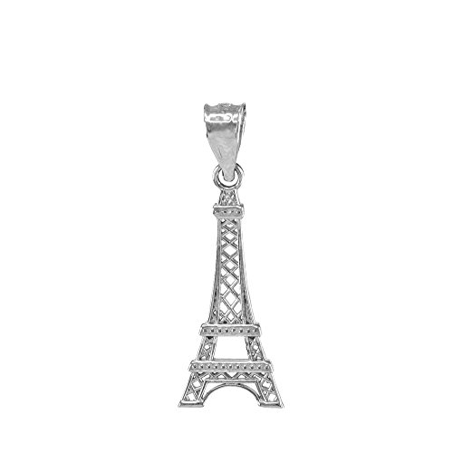 Fine 925 Sterling Silver Eiffel Tower Charm Pendant