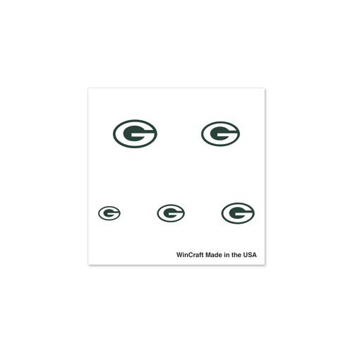 Green Bay Packers NFL-licensed 4-Pack Logo Temporary Fingernail Tattoos by WinCraft