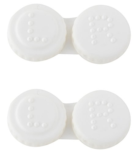 Jazz Eye Wears Plastic Mini Contact Lens Travel Case Box – Pack of 2 (A034, White)