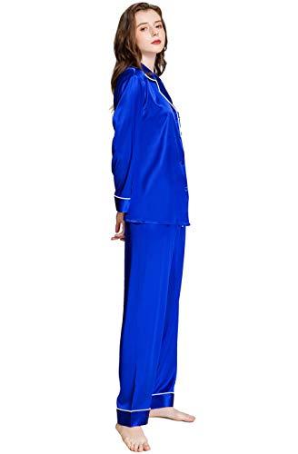 - Womens Silk Satin Pajamas Set Sleepwear Loungewear Invy M