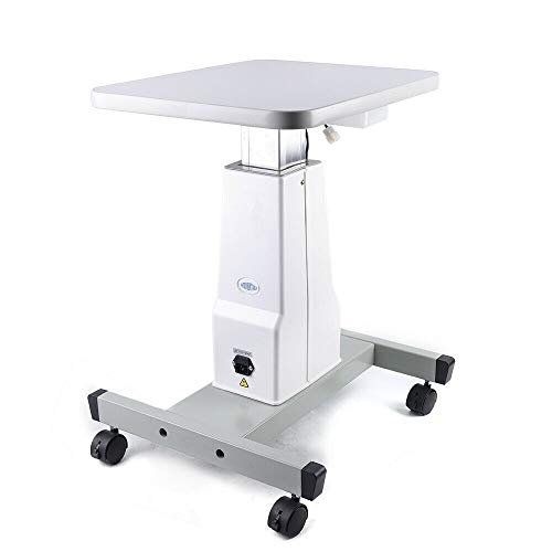 WUPYI Professional Optical Electric Motorized Table,110V Lifting Optical Eyeglass Motorized Instrument Electric Power Work Table with 4 Wheels,Adjustable 60cm-82cm,Low Noise