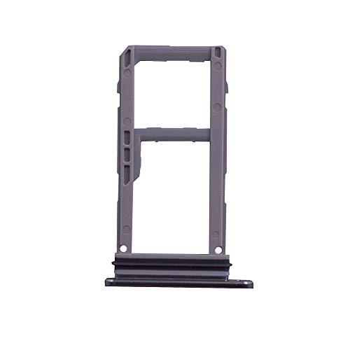 (Alovexiong MirrorSilver Micro SIM Tray Card Holder Slot&SD Memory Card Tray Repair Replacement Part for LG V30 H930 H933 H931 H932 VS996 V30+ LS998U)