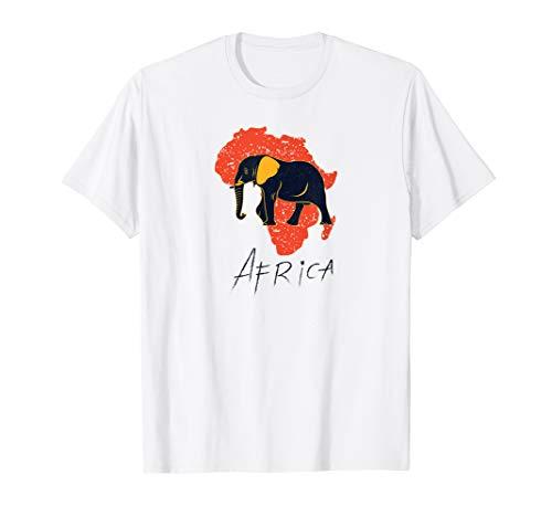 Africa map t-shirt African elephant African safari t-shirt (Africa Map T-shirt)