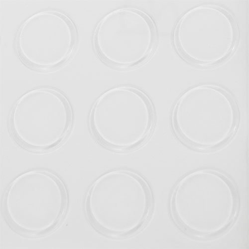 Bumpers, Round (BP972) - 1 Sheet of 32 Bumpers .100'' Thk X1 .230'' Dia by MANU-SOURCE