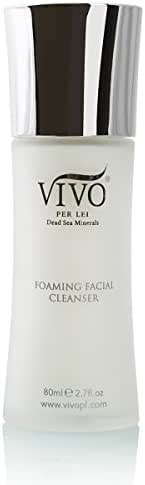 Vivo Per Lei Foaming Cleanser | Dead Sea Cleanser with Witch Hazel | Foaming Face Cleanser for Clean & Clear Skin | Facial Cleanser for Dry Skin, Oily Skin & Sensitive Skin | Moisturizing Cleanser