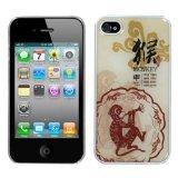 MYBAT IPHONE4HPCBKDRM848NP Premium Lightweight Dream Back Case for iPhone 4 - 1 Pack - Retail Packaging - Monkey-Chinese Zodiac