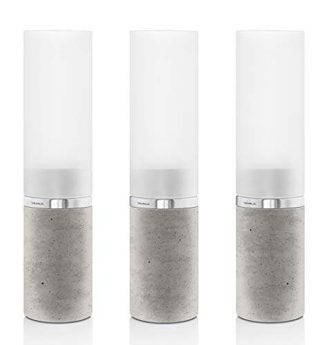 Blomus Faro 3 pcs Tealight Holder Concrete Base