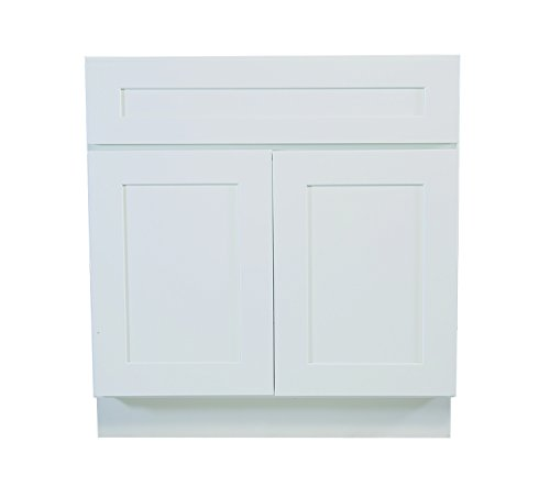 Kitchen Sink Base Cabinet (Design House 561472 Brookings 30-Inch Sink Base Cabinet, White Shaker)