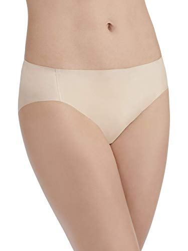 Vanity Fair Women's Underwear Nearly Invisible Panty, Damask Neutral, Large/7 ()