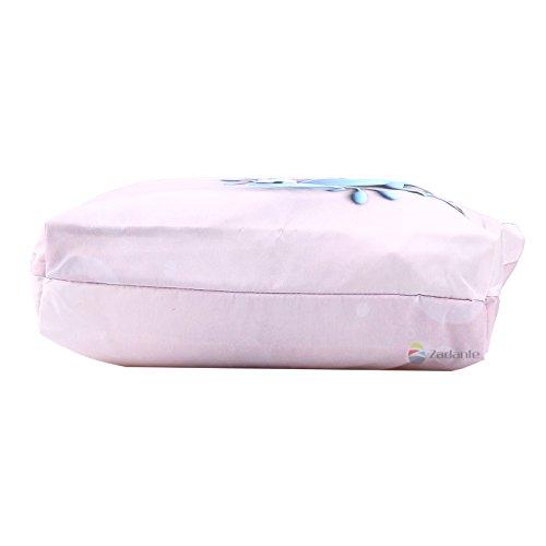 Newplenty Ladies Zippered Light Shoulder Shopping Tote Bag Handbag Beach Satchel (SB-6006) by newplenty (Image #5)