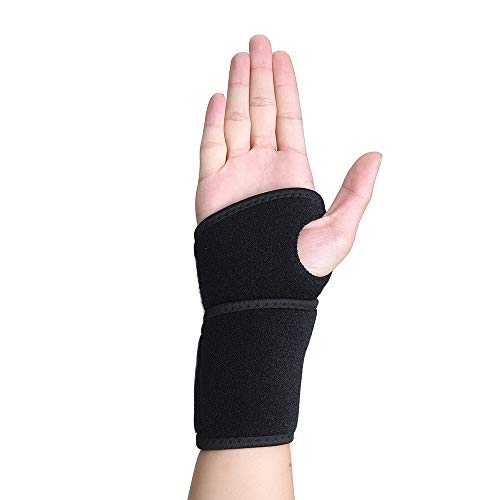 - Wrist Brace Support for Carpal Tunnel, Arthritis and Tendinitis, Wrist Compression Wrap with Pain Relief, Fit for Both Left Hand and Right Hand - Single