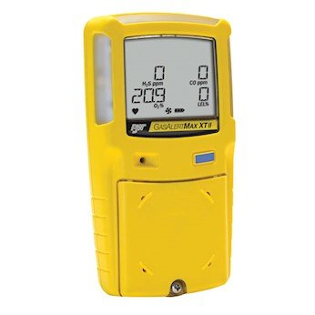 BW Technologies Gas Alert Max XT II Four Gas Detector, O2/CO/H2S/LEL