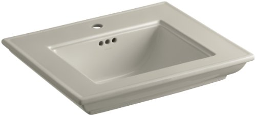 KOHLER K-2345-1-G9 Memoirs Bathroom Sink Basin with Stately Design and Single-Hole Faucet Drilling, Sandbar (Basin Memoirs G9 Lavatory)