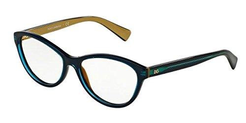 Dolce&Gabbana DG3232 Eyeglass Frames 2958-53 - Top Petroleum On Gold DG3232-2958-53