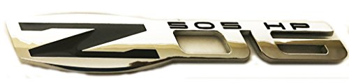 (x1 New Chrome / Black Corvette Z06 Emblem Replaces OEM Fender / Trunk Badge ZO6 15812355)