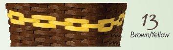 Eco Friendlyタオルバスケット B01ENNKHRK ブラウン/イエロー