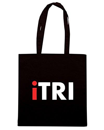 T-Shirtshock - Bolsa para la compra OLDENG00551 itri triathlon Negro