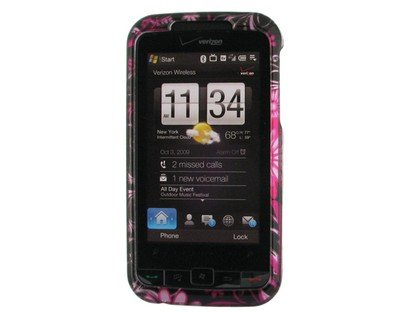: High Quality with our Premium Snap-on Crystal Case Hard Protector Cover for HTC IMAGIO / 6975 CRYSTAL CASE HOT PINK BUTTERFLY (Verizon CDMA)