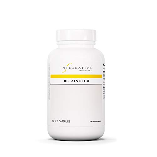 Integrative Therapeutics – Betaine HCI – Support for Healthy Stomach Acidity, Gastric Function, and Protein Digestion – 250 Capsules Review