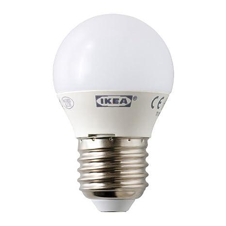 IKEA LEDARE bombilla Led E27 200 lúmenes 3,5 W globo Ópalo blanco: Amazon.es: Iluminación