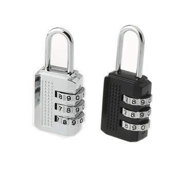 Slim Lightweight Solid Security Lock Locking System Solid Zinc Alloy for Suitcases and Holdalls Easy to Set and Reset Combination Code Glow Safe and Secure 3 Digit Combination Padlock Silver