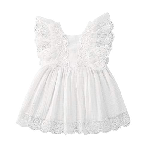 LUCSUN Baby Meisjes Kant Mouwloze Romper Jurk Zus Bijpassende Pasgeboren Baby Meisjes Casual Outfits Kleding