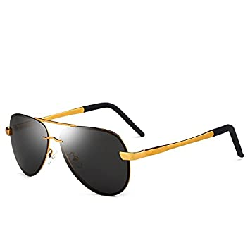 Yao Gafas de Sol polarizadas para Adultos, Gafas de Sol de la Vendimia Polaroid Sun