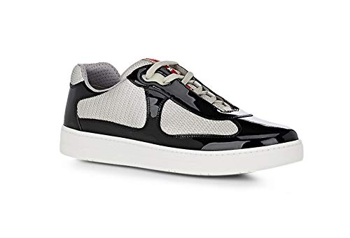Prada Men's Linea Rossa New America's Cup Sneaker, Black 4E3166 (13 US / 12 (Linea Rossa Sneakers)