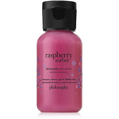 Philosophy Limited Edition Raspberry Sorbet Shampoo, Shower Gel & Bubble Bath (Travel Size) (Body Gel Sorbet)