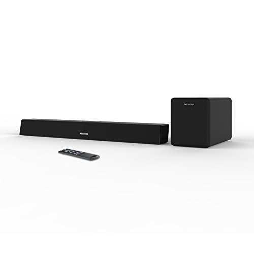 Soundbar with Subwoofer, MEGACRA Sound Bar with Sub Wired and Wireless Bluetooth Audio for TV (Home Theater Surround Sound System, 2.1 Channel, 100 Watt Speaker, Wall Mountable, Remote Control) by MEGACRA