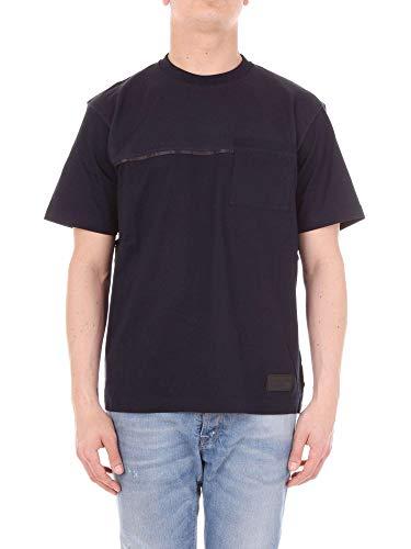 (Prada Men's Ujn4221nwtnavy Blue Cotton T-Shirt)
