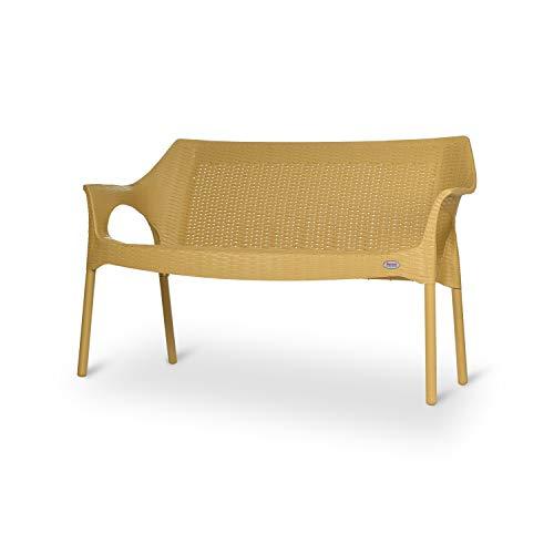 Supreme Loveseat Plastic 2 Seater Sofa  Set of 2, Cane